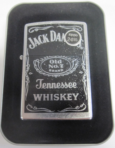 Zippo Lighter - Alcohol - Jack Daniels Label