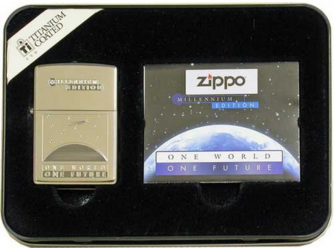 Zippo Lighter - Millennium - One World, One Future