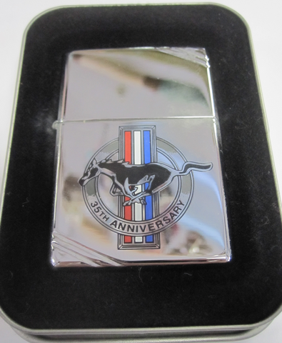 Zippo Lighter - Automotive - Ford Mustang 35th Anniversary (Chrome)