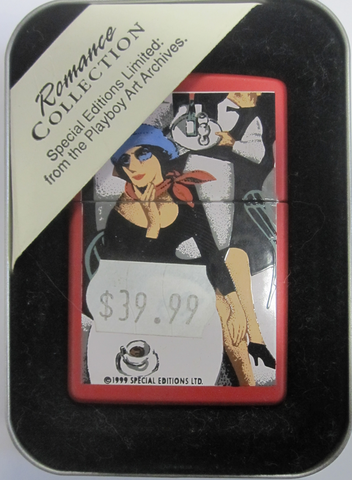 Zippo Lighter - Pinup - Playboy Romance Woman