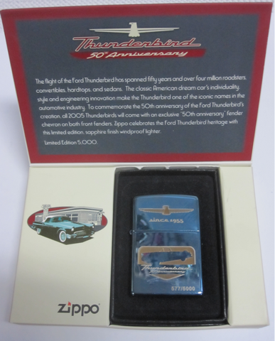Zippo Lighter - Automotive - Chevy Thunderbird 50th Anniversary