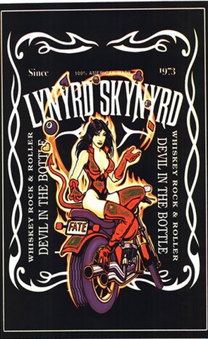 "Felt Black Light Poster - ""Lynryd Skynryd"""