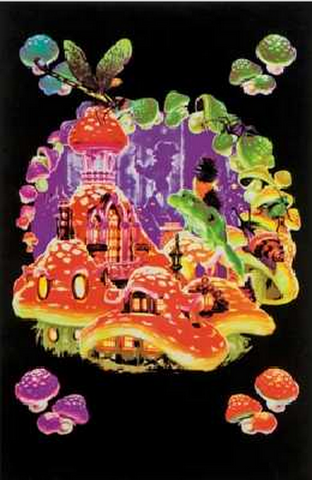 "Felt Black Light Poster - ""Mushroom Elf"""