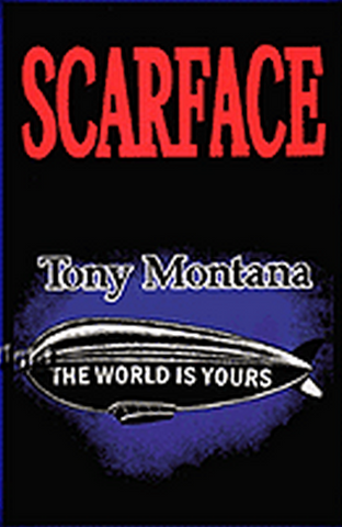 "Felt Black Light Poster - ""The World Is Yours"" (Scarface)"