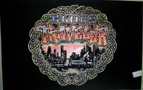 Felt Black Light Poster - 1996 - Blues Traveler: City Lights