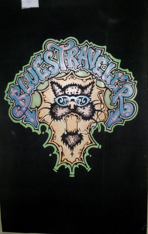 Felt Black Light Poster - 1996 - Blues Traveler Cat
