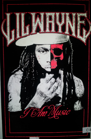 "Felt Black Light Poster - ""I Am Music"" (Lil' Wayne)"