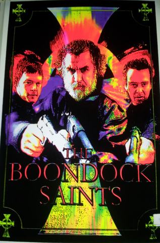 "Felt Black Light Poster - ""Boondock Saints"""