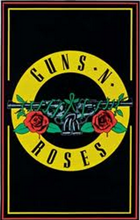 "Felt Black Light Poster - ""GNR Bullet"" (Guns N' Roses)"