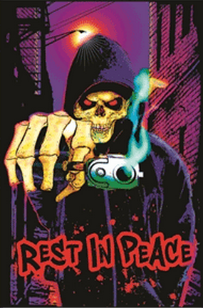 "Felt Black Light Poster - ""Rest In Peace"""