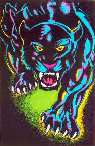 Felt Black Light Poster - 1994 - King of the Night