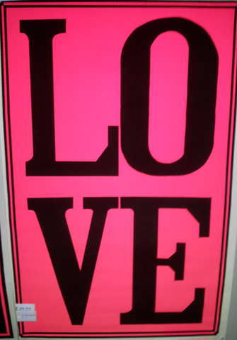 "Felt Black Light Poster - ""Love"" *Vintage*"