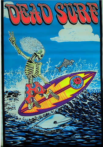"Felt Black Light Poster - ""Dead Surf"" (Grateful Dead)"
