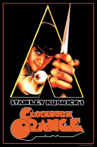 "Felt Black Light Poster - ""Clockwork Orange"""