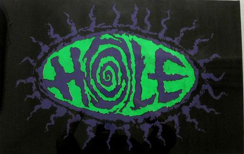 "Felt Black Light Poster - ""Hole"""