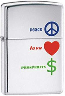 Zippo Lighter - Other - Peace, Love, Prosperity
