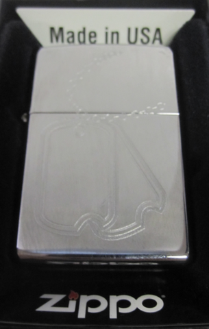 Zippo Lighter - Military - Dog Tags