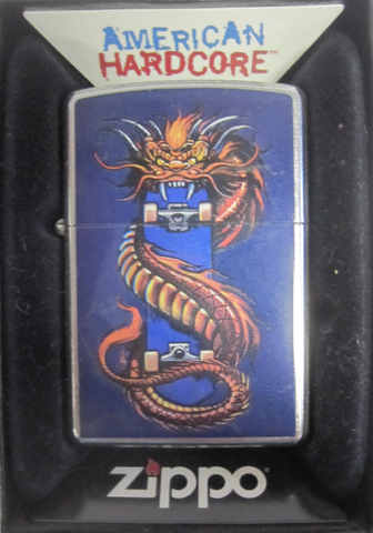 Zippo Lighter - American Hardcore - Skate Dragon