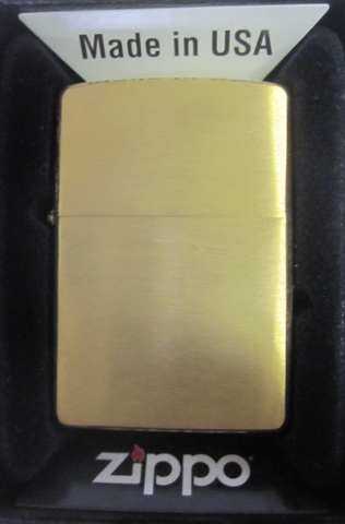 Zippo Lighter - Other - Brushed Brass