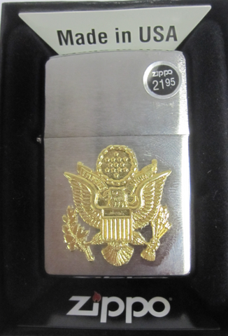 Zippo Lighter - Military - US Army Emblem