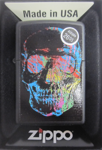 Zippo Lighter - Other - Colorful Skull