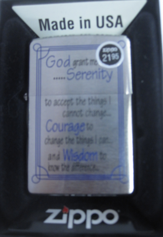 Zippo Lighter - Other - Serenity Prayer