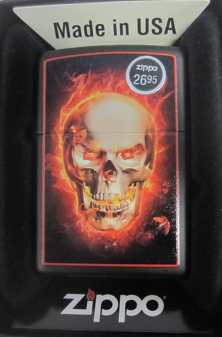 Zippo Lighter - Other - Burning Skull