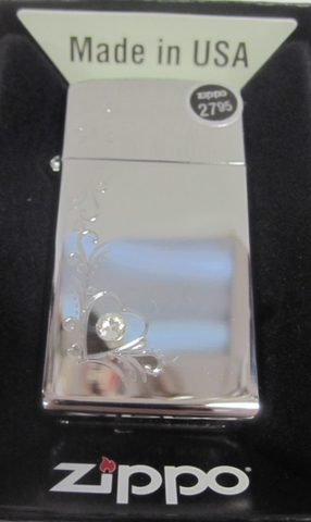 Zippo Lighter - Other - Bling Heart/Vine