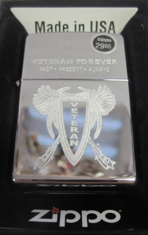 Zippo Lighter - Military - Proud to Be a Veteran