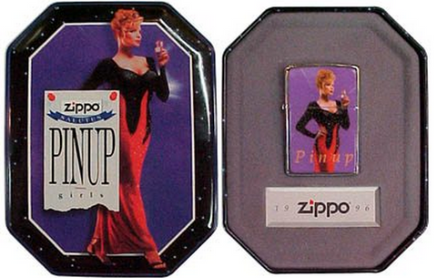 Zippo Lighter - Collectable of the Year - 1996 Pinup Girl