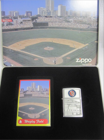 Zippo Lighter - Sports - Cubs Wrigley Field Tin