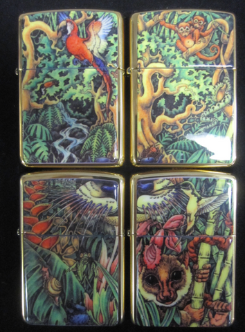 Zippo Lighter - Collectable of the Year - 1995 Mysteries of the Forest Set