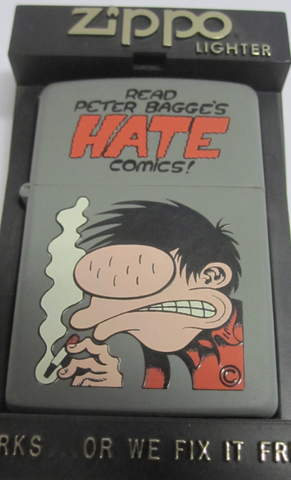Zippo Lighter - Flame Rite - Hate Comics Smoker