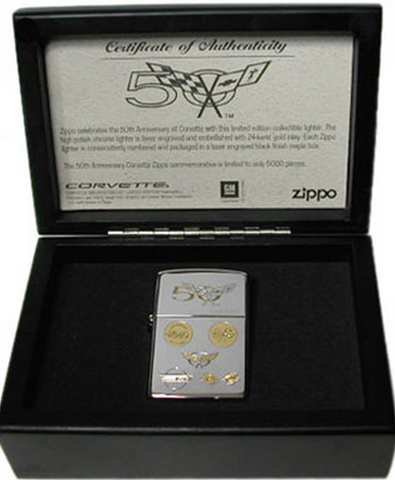 Zippo Lighter - Automotive - Chevrolet Corvette 50th Anniversary