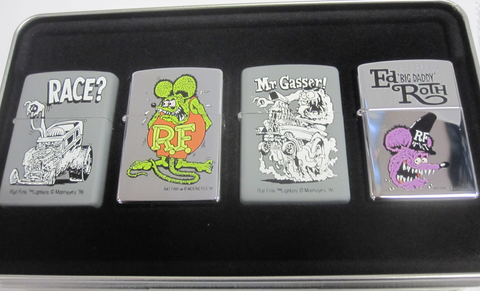 Zippo Lighter - Flame Rite - Rat Fink Four Pack Tin 1996