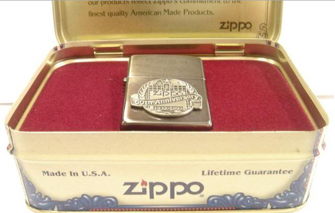 Zippo Lighter - Collectable of the Year - 1992 60th Anniversary