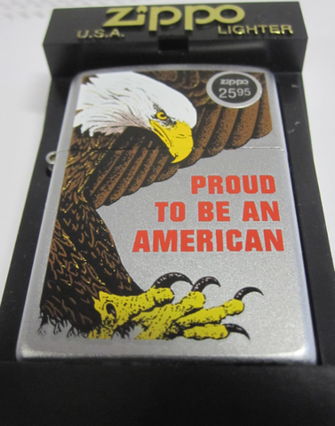 Zippo Lighter - Patriotic - Proud to Be An American