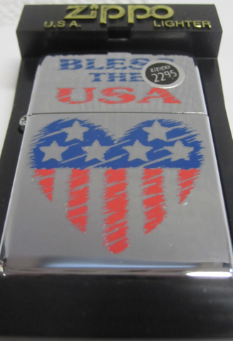 Zippo Lighter - Patriotic - Bless the USA