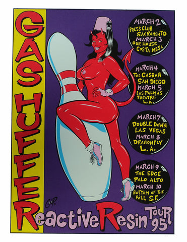 Coop - 1995 - Gas Huffer West Coast Tour Concert Poster