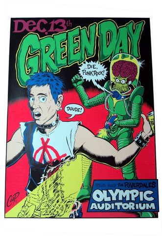 Coop - 1995 - Green Day Concert Poster