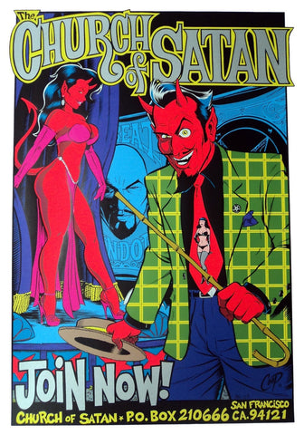 Coop - 1996 - Church of Satan Poster (Silver)