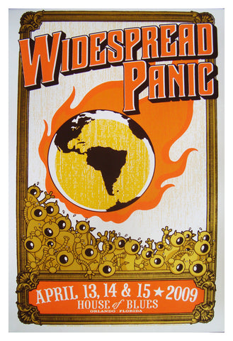 Mike King - Widespread Panic - Test Print - 2009