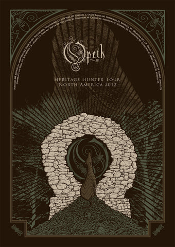 Neal Williams - 2012 Opeth - North America Tour Poster