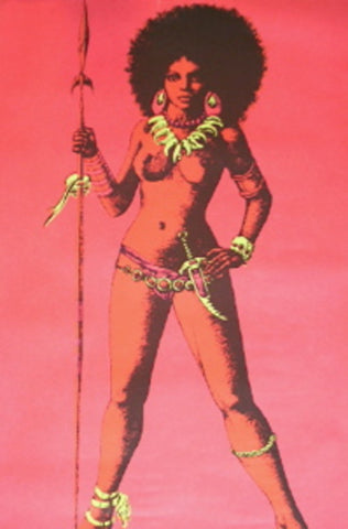 Black Light Poster - 1970 - War Queen