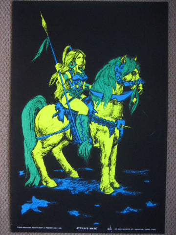 Black Light Poster - 1969 - Attila's Mate
