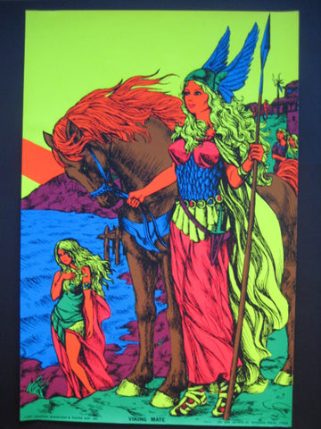 Black Light Poster - 1971 - Viking's Mate
