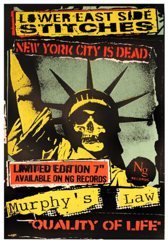 Frank Kozik -1999 - Lower East Side Stitches Poster