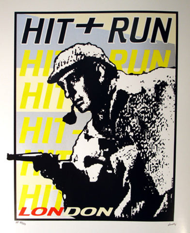 Frank Kozik - 1998 - Hit and Run Clothing Poster