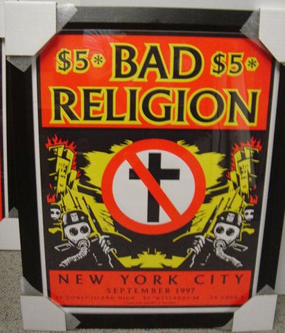 Shepard Fairey - 1997 - Bad Religion (framed) Concert Poster