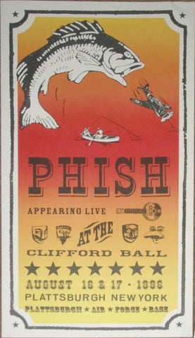 Modern Dog - 1996 - Phish Clifford Ball Concert Poster